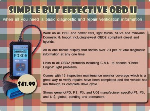 OBD II entry Level Scanner